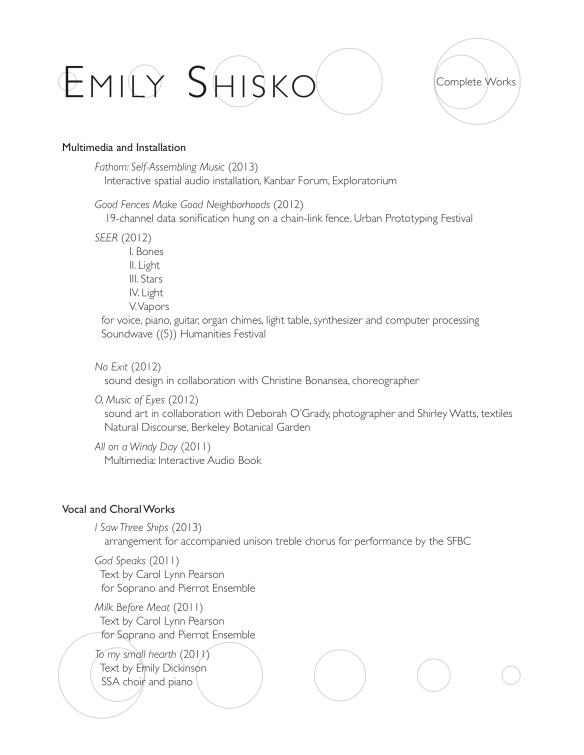 Shisko Works (PDF)